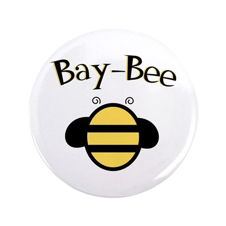 "Bay-Bee Baby Bumblebee 3.5"" Button"