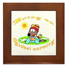 Global Warming Day Framed Tile