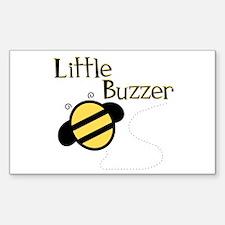 Little Buzzer Bumblebee Rectangle Decal