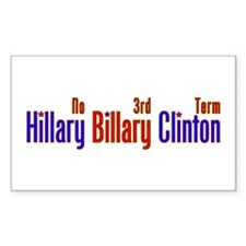 Hillary Billary Clinton Rectangle Decal