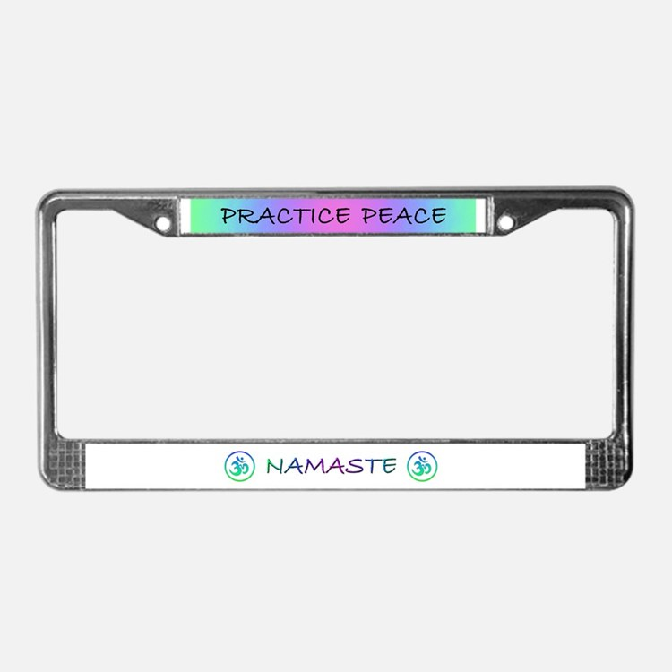 Yoga  License Plate Frame