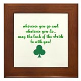 Irish sayings Framed Tiles