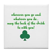 Lucky Irish Tile Coaster