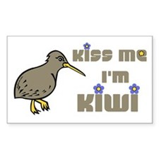 Kiss Me I'm Kiwi Rectangle Decal