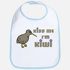 Kiss Me I'm Kiwi Bib