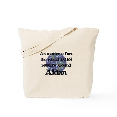 World Revolves Around Aidan Tote Bag