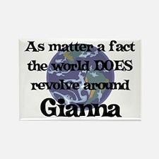 World Revolves Around Gianna Rectangle Magnet