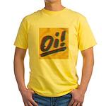 Oi!+A.C.A.B. by OiSKINBLU Yellow Tee