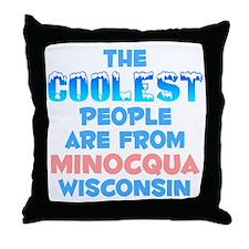 Coolest: Minocqua, WI Throw Pillow