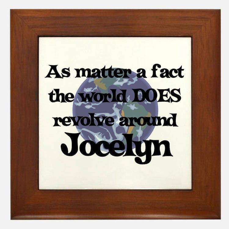 World Revolves Around Jocelyn Framed Tile