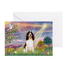 Cloud Angel & Springer Greeting Cards (Pk of 10)