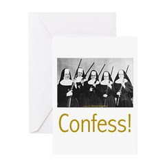 Confess! Greeting Card