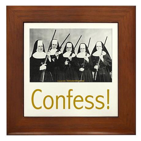Confess! Framed Tile