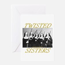 Twisted Sisters Greeting Card