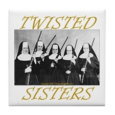 Twisted Sisters Tile Coaster