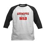 Grandpas Gone Wild Kids Baseball Jersey