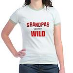 Grandpas Gone Wild Jr. Ringer T-Shirt