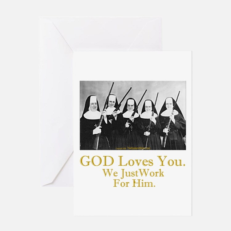 God Loves You Greeting Card
