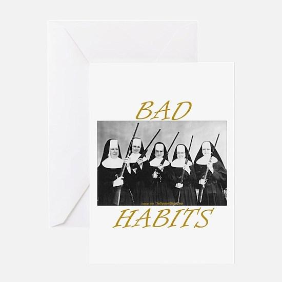 Bad Habits Greeting Card