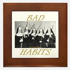 Bad Habits Framed Tile