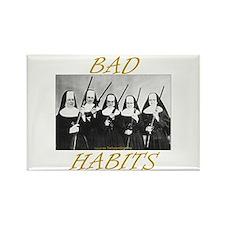 Bad Habits Rectangle Magnet