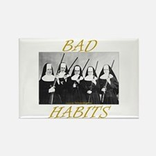 Bad Habits Rectangle Magnet