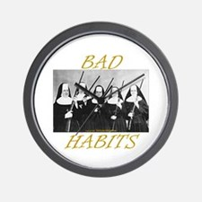 Bad Habits Wall Clock
