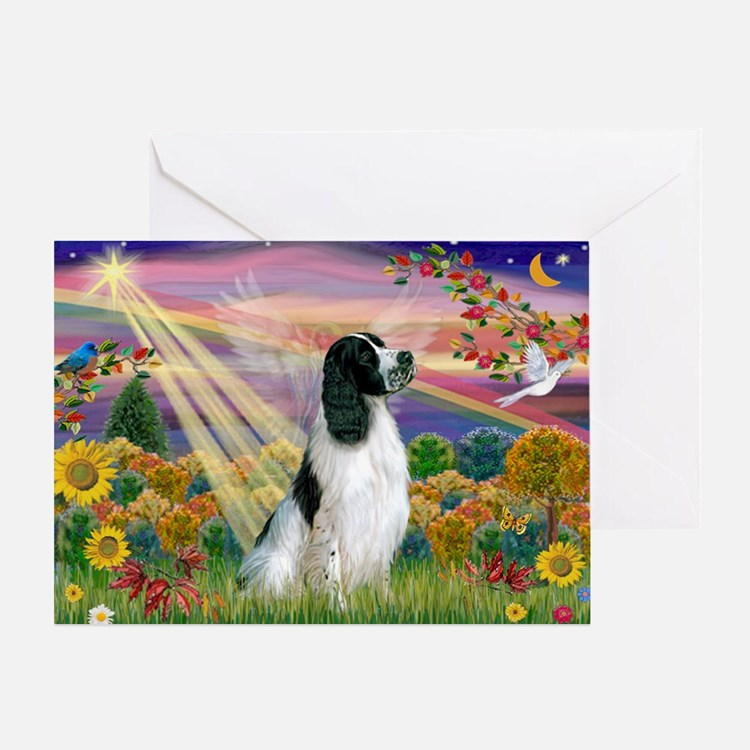 Autumn Angel & Eng. Springer Greeting Card
