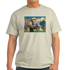 St. Francis & Wire Fox Terrier Light T-Shirt