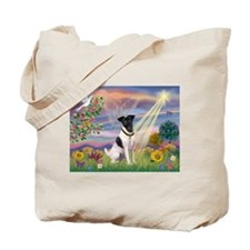 Cloud Angel & Smooth Fox Terrier Tote Bag