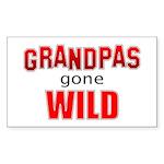 Grandpas Gone Wild Rectangle Sticker