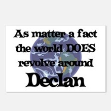 World Revolves Around Declan Postcards (Package of