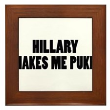 Anti-Hillary Clinton T-shirts Framed Tile