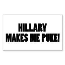Anti-Hillary Clinton T-shirts Sticker (Rectangular