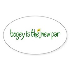 Bogey is the new Par Oval Decal