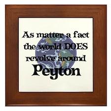World Revolves Around Peyton Framed Tile