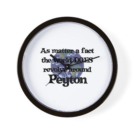 World Revolves Around Peyton Wall Clock
