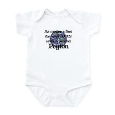 World Revolves Around Peyton Infant Bodysuit
