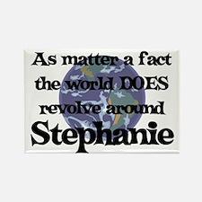 World Revolves Around Stephan Rectangle Magnet