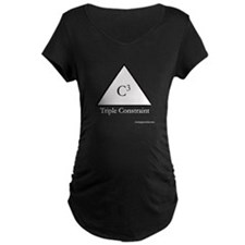 C3_Triple_Constraint_blk_png Maternity T-Shirt