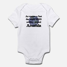 World Revolves Around Amanda Infant Bodysuit