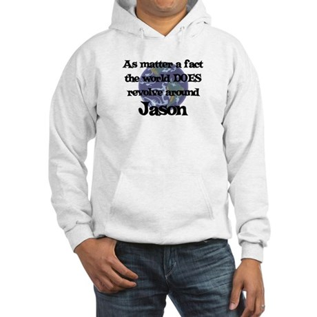 World Revolves Around Jason Hooded Sweatshirt