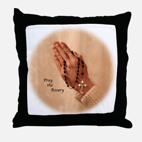 Rosary Blessings Throw Pillow