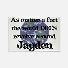 World Revolves Around Jayden Rectangle Magnet
