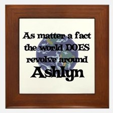 World Revolves Around Ashlyn Framed Tile