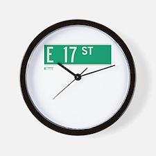 17th Street in NY Wall Clock