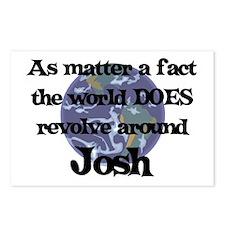 World Revolves Around Josh Postcards (Package of 8