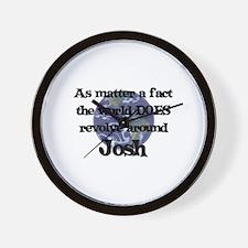 World Revolves Around Josh Wall Clock