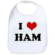 I Love HAM Bib