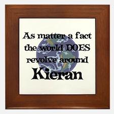 World Revolves Around Kieran Framed Tile